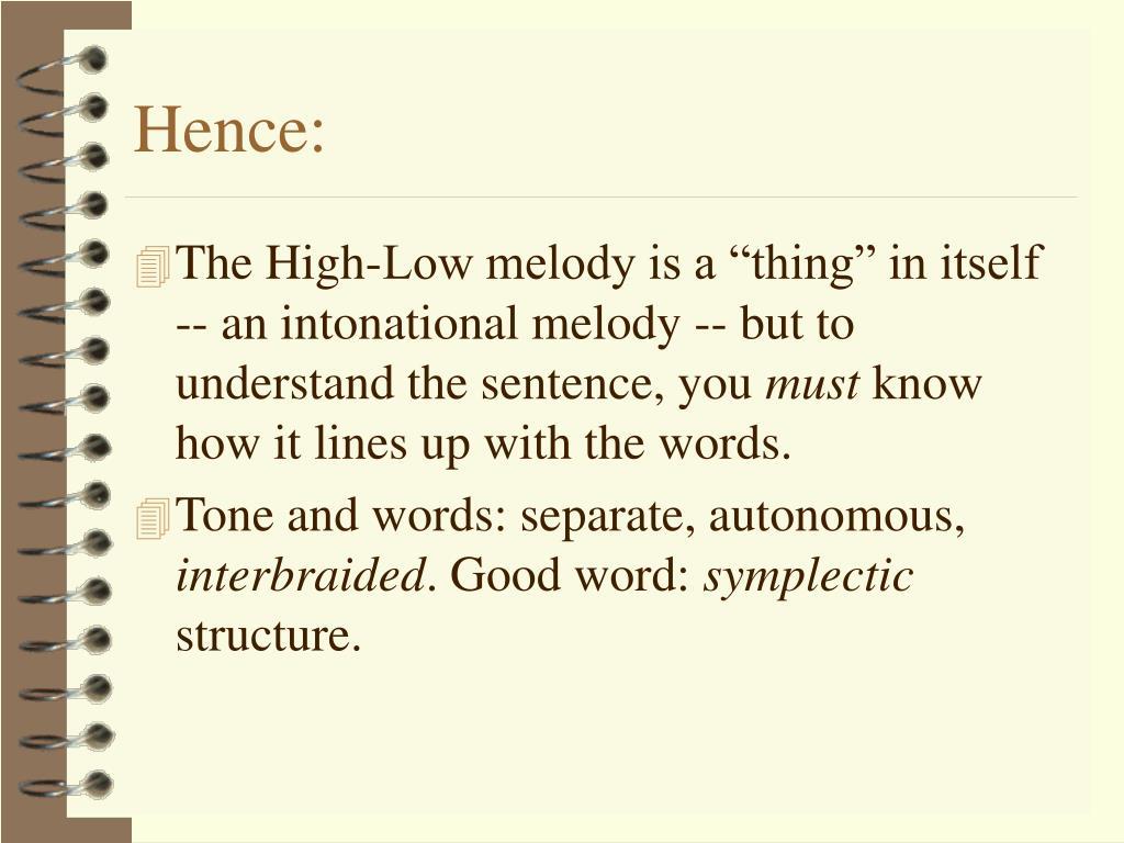 Hence: