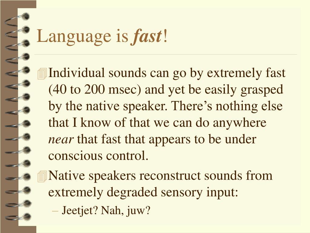 Language is
