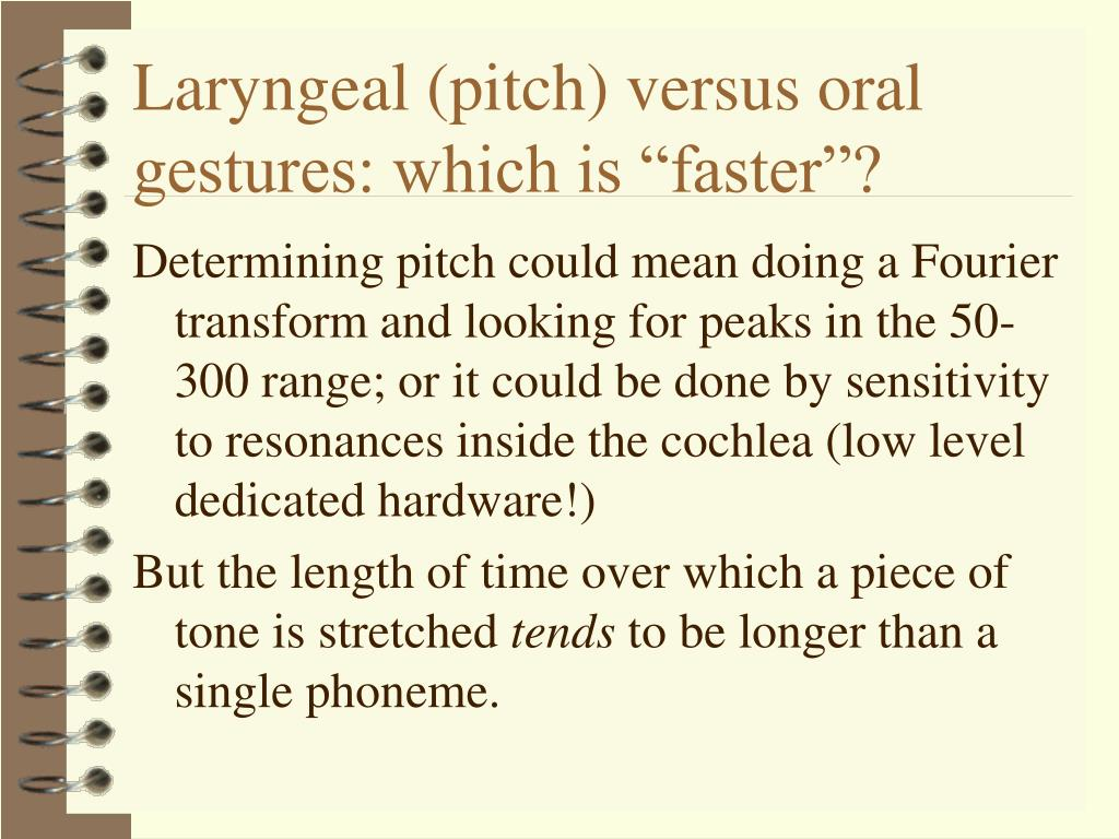 """Laryngeal (pitch) versus oral gestures: which is """"faster""""?"""