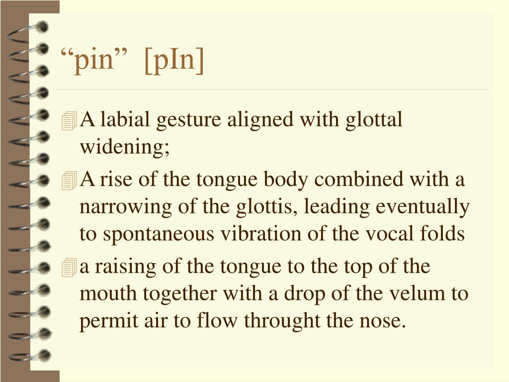 """""""pin""""  [pIn]"""