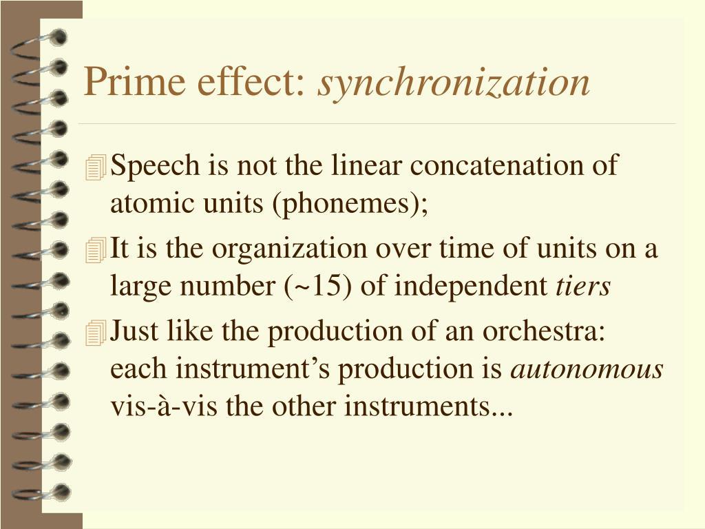 Prime effect: