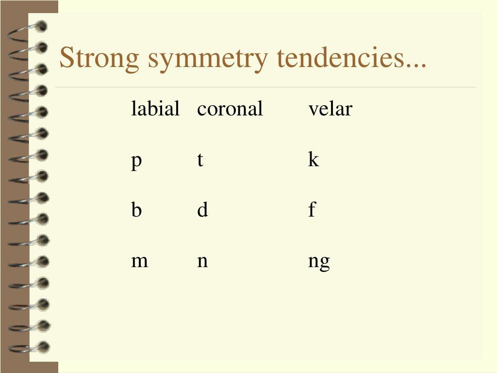 Strong symmetry tendencies...