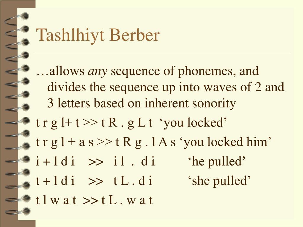 Tashlhiyt Berber