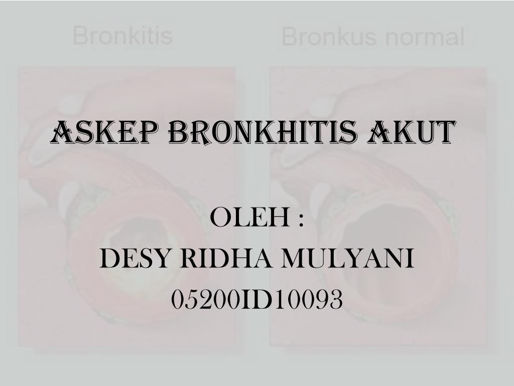 askep bronkhitis akut l.