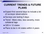 current trends future plans