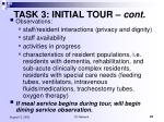 task 3 initial tour cont