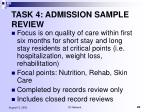 task 4 admission sample review25