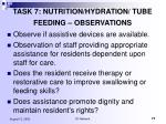 task 7 nutrition hydration tube feeding observations77