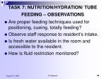 task 7 nutrition hydration tube feeding observations78