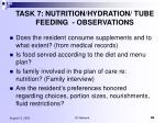 task 7 nutrition hydration tube feeding observations80