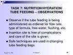 task 7 nutrition hydration tube feeding observations81