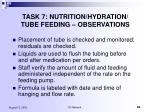 task 7 nutrition hydration tube feeding observations82