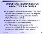 tools and resources for proactive readiness98