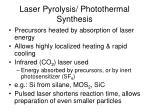laser pyrolysis photothermal synthesis