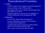 neurochemical correlates33