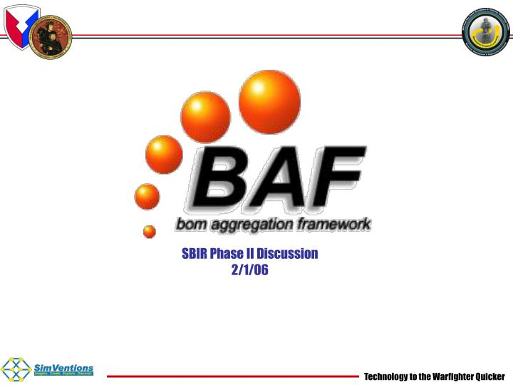 Sbir phase ii discussion 2 1 06