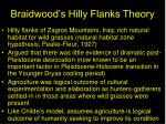 braidwood s hilly flanks theory