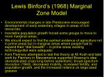 lewis binford s 1968 marginal zone model