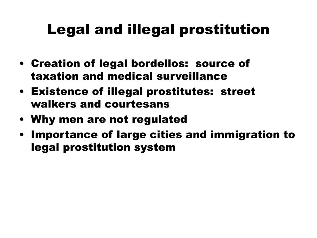 Legal and illegal prostitution