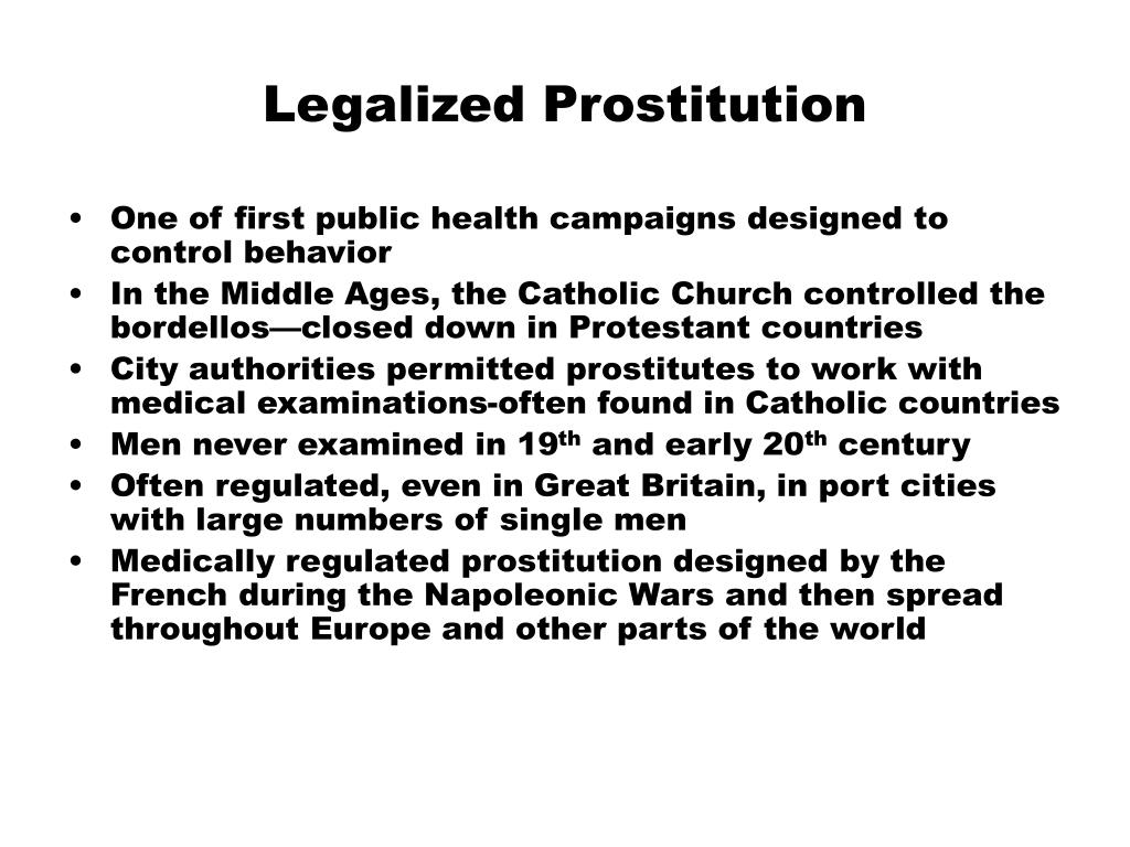 the benefits of legalizing prostitution