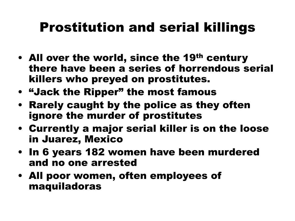 Prostitution and serial killings