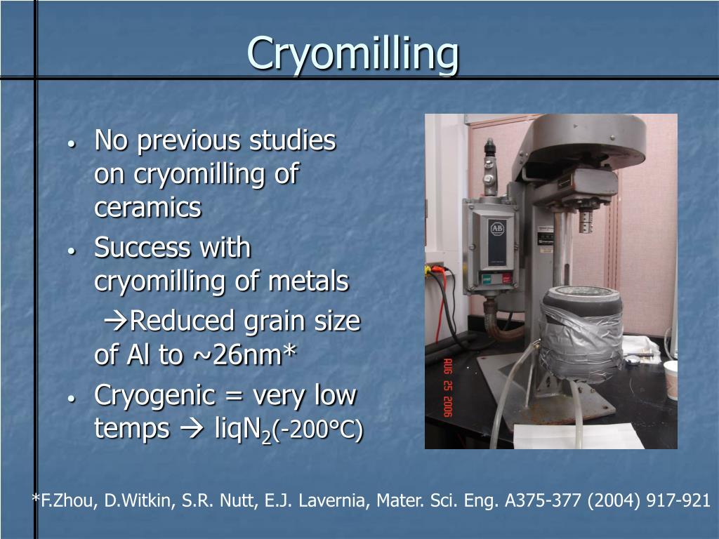 Cryomilling