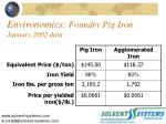 environomics foundry pig iron january 2002 data