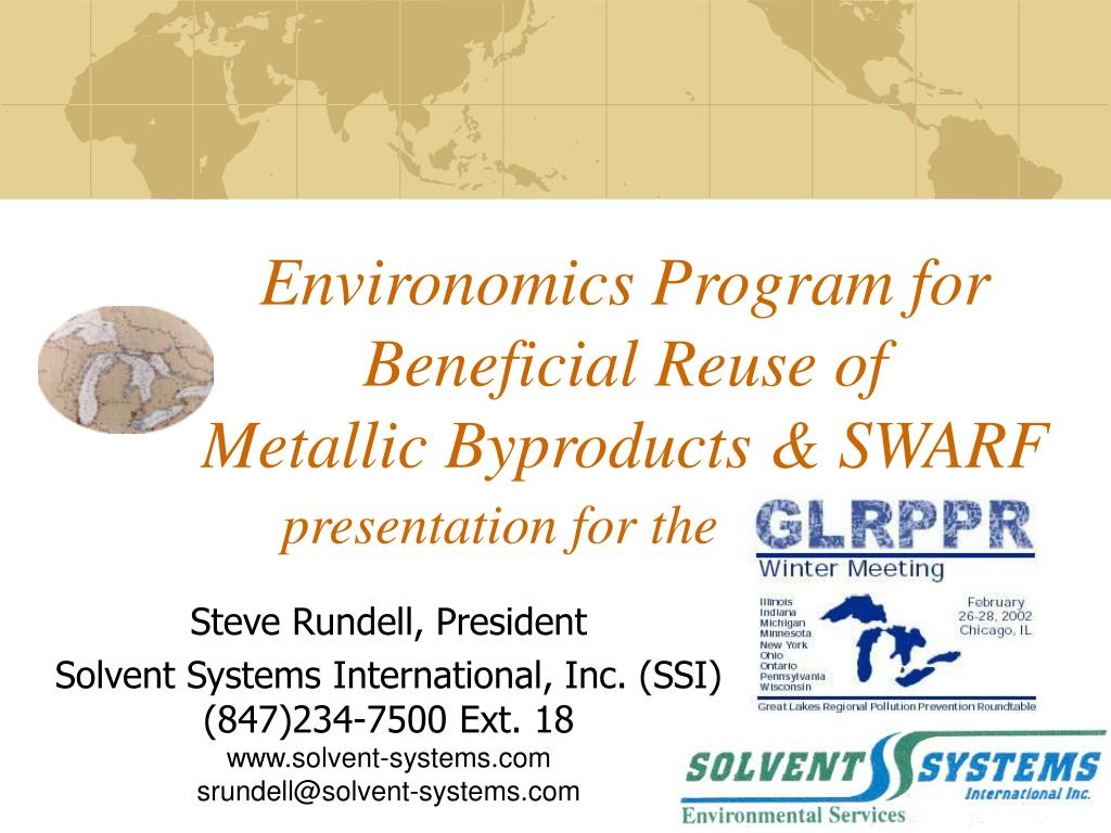 environomics program for beneficial reuse of metallic byproducts swarf l.