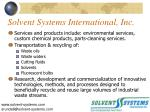 solvent systems international inc3