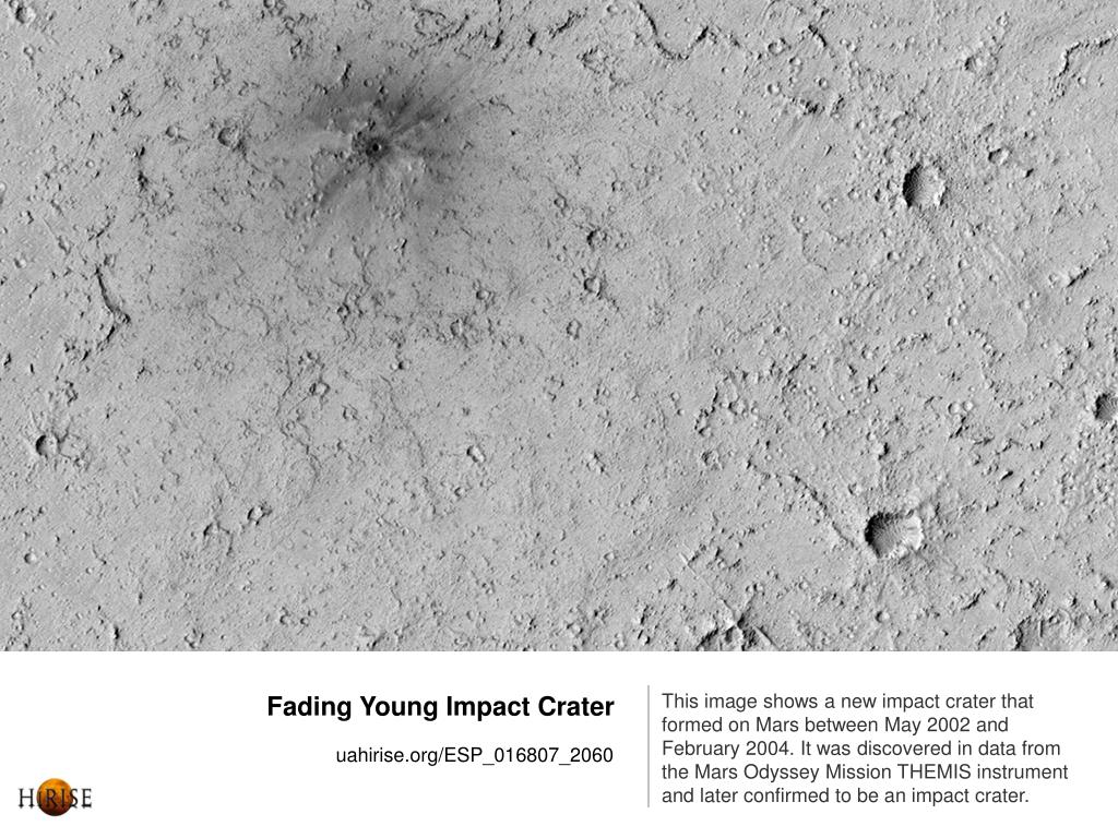 Fading Young Impact Crater