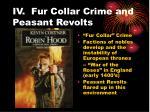 iv fur collar crime and peasant revolts