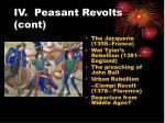iv peasant revolts cont