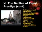 v the decline of papal prestige cont18