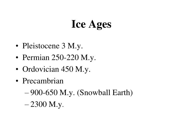 ice ages n.