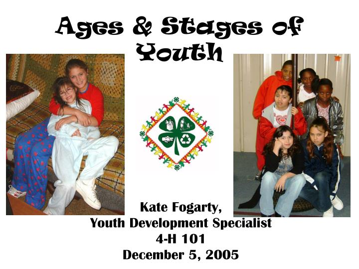 Ages stages of youth