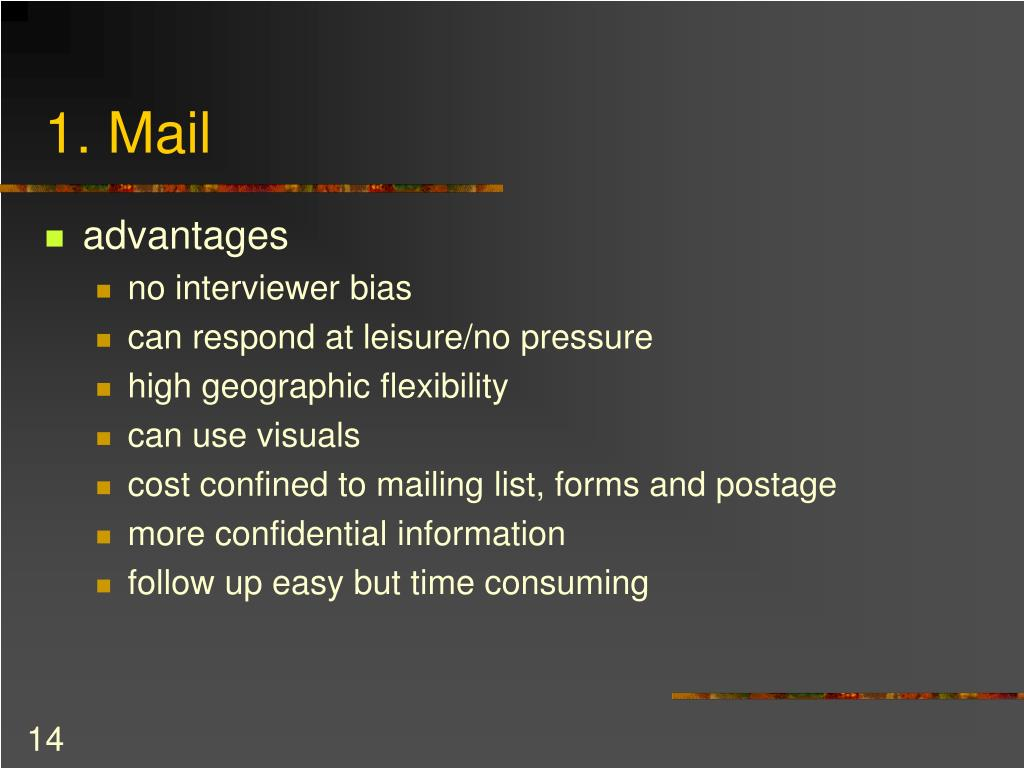 1. Mail