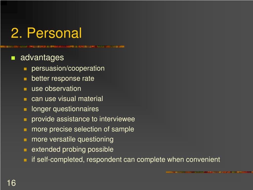 2. Personal