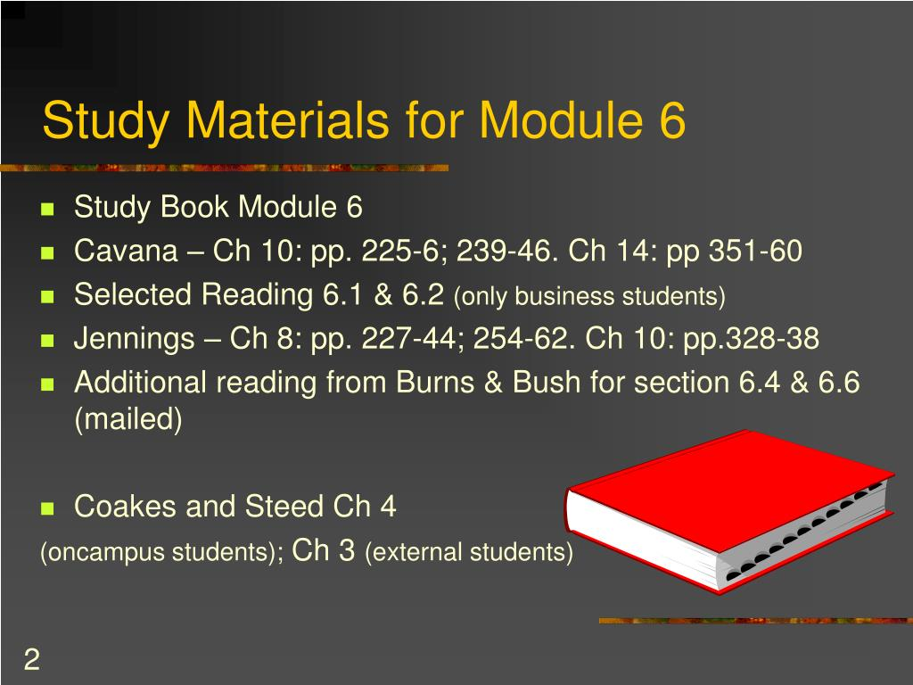 Study Materials for Module 6