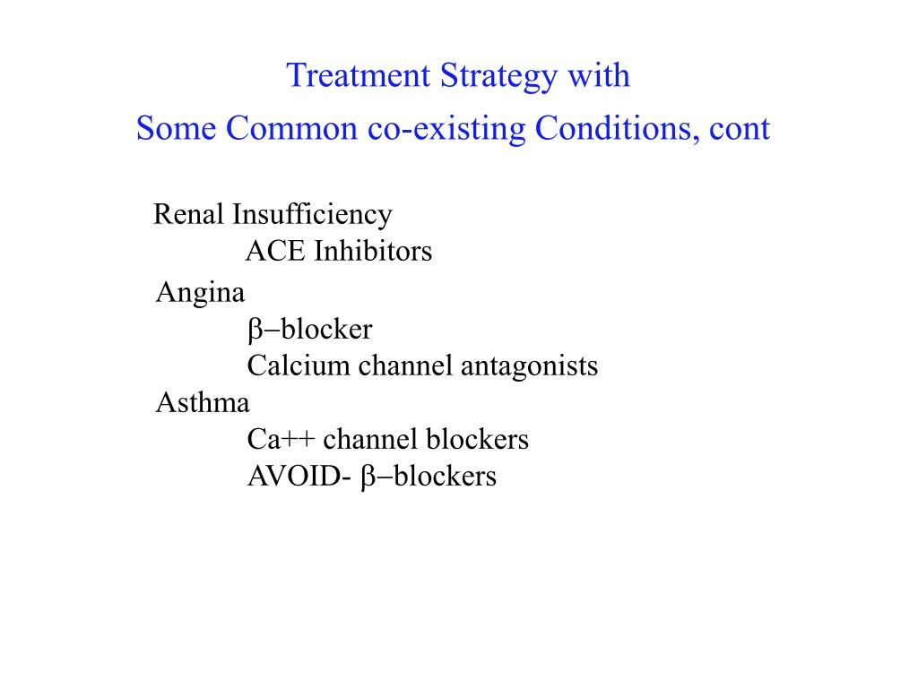 Treatment Strategy with