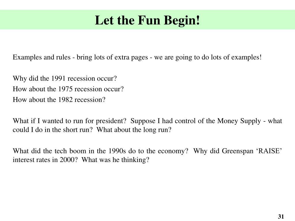 Let the Fun Begin!