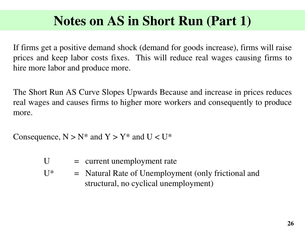 Notes on AS in Short Run (Part 1)