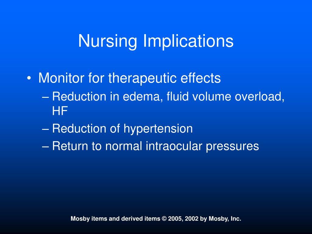 Nursing Implications