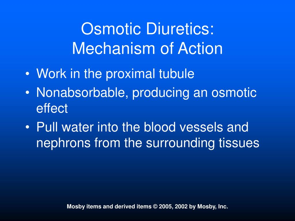 Osmotic Diuretics: