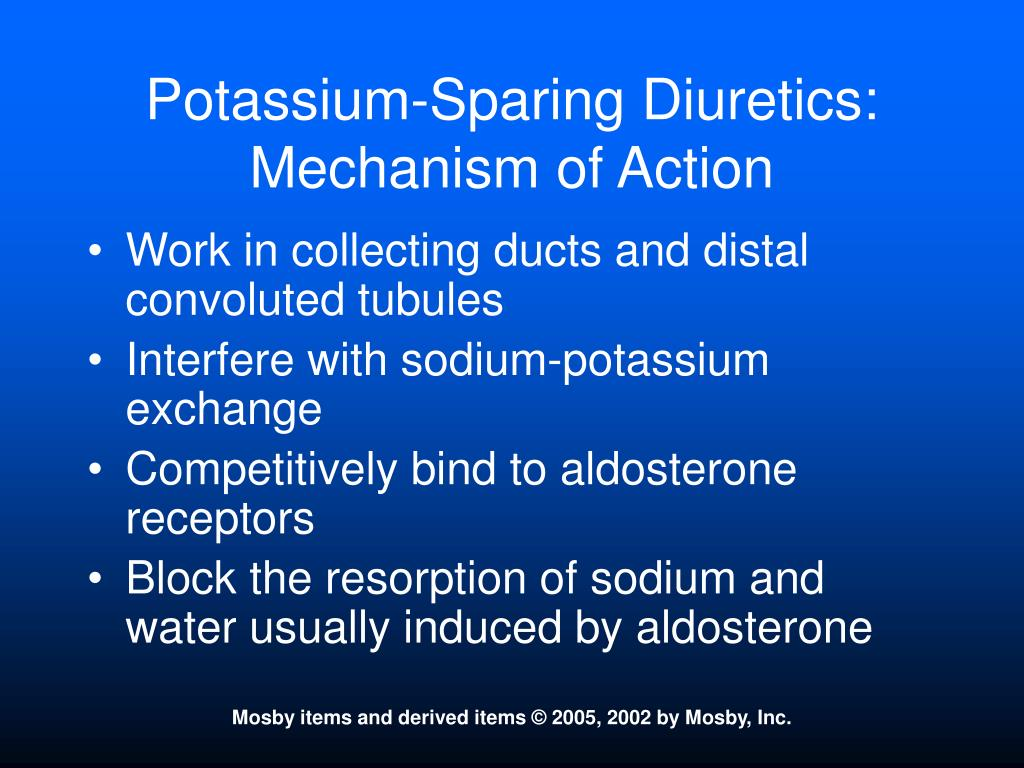 Potassium-Sparing Diuretics:  Mechanism of Action