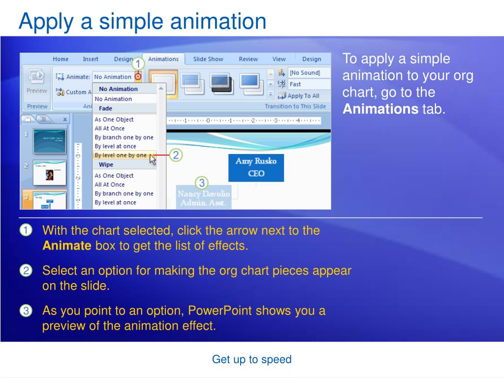 Apply a simple animation