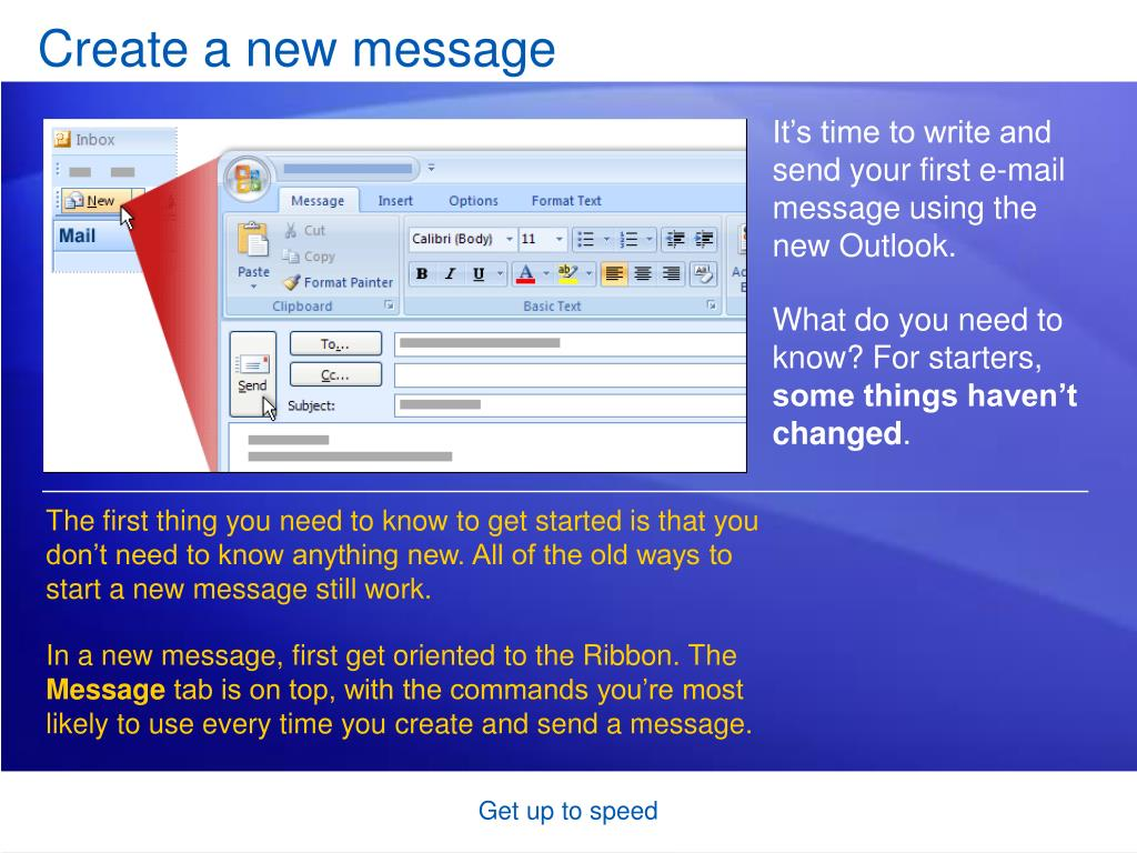 Create a new message