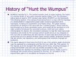 history of hunt the wumpus
