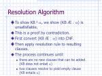 resolution algorithm