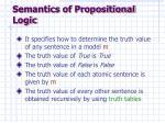 semantics of propositional logic