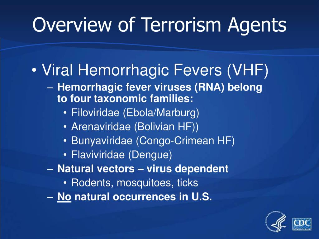 Overview of Terrorism Agents